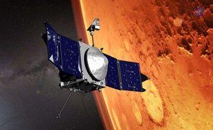 Un satellite de la NASA à proximité de la planète Mars en octobre 2016