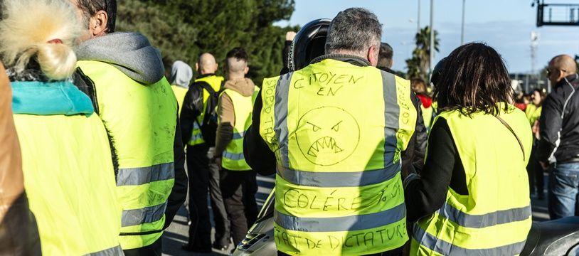 Manifestation des gilets jaunes (illustration).
