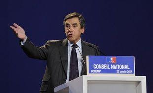 François Fillon, le 25 janvier 2014, lors du Conseil national de l'UMP àParis.