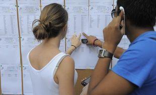 Des élèves découvrant leurs résultats au bac (illustration).
