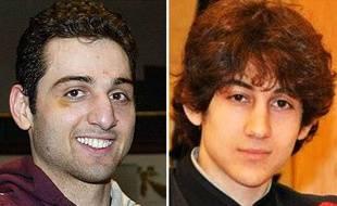 Tamerlan (G) et Djokhar Tsarnaev, accusés d'être les auteurs de l'attentat de Boston du 15 avril 2013.