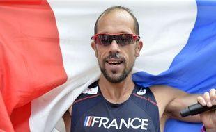 Yohann Diniz après son record du monde, le 15 août 2014