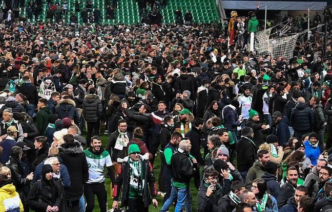 ASSE-Rennes: Le peuple vert met le feu au Chaudron après la qualification de Saint-Etienne en finale de la Coupe de France