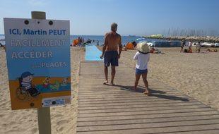 Le tapis de plage à Fos-sur-Mer