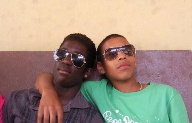 Yoann Nanou et Corentin Tolisso à l'âge de 14 ans.