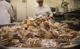 Des cookies sans gluten, fabriqués par l'entreprise française ABCD Nutrition, le 7 janvier 2016, à Roye