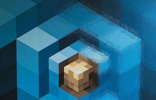 Cube 75, oeuvre de l'artiste hollandais Mr June