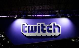 Le logo de Twitch au Tokyo Game Show, le 21 septembre 2018.
