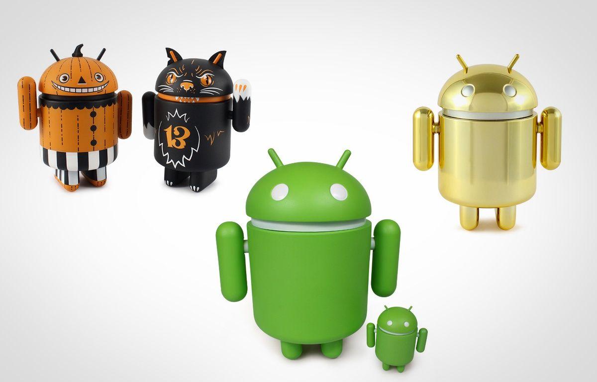 Des mascottes Google d'Android. – GOOGLE