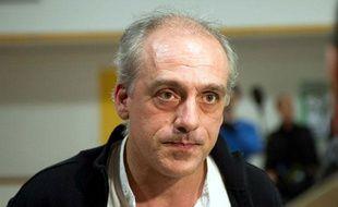 Philippe Poutou à Tours (Indre-et-Loire), le 27 mars 2012.