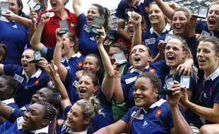 Les joueuses du XV de France le 17 août 2014