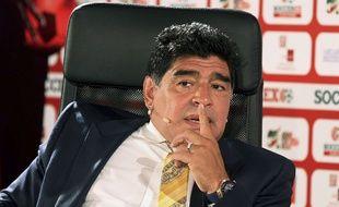 Diego Maradona en Jordanie le 4 mai 2015.
