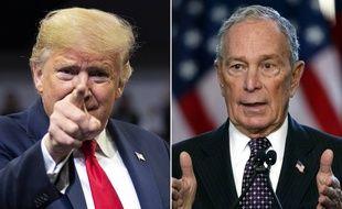Donald Trump et le candidat à la primaire démocrate Michael Bloomberg (photomontage).