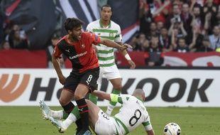 A l'image de Clément Grenier, cisaillé par le capitaine Scott Brown, le Stade Rennais a été gêné par le Celtic.