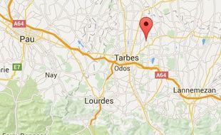 Localisation de Collongues, dans les Hautes-Pyrénées.