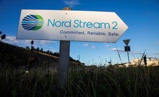 Sur le chantier de Nord Stream 2 en Allemagne.