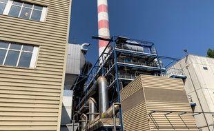 L'unité de valorisation énergétique des ordures ménagères de l'eurométropole au port autonome de Strasbourg. Le 28 août 2019.