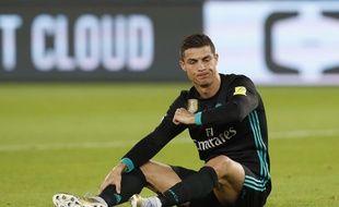 Cristiano Ronaldo lors de Real Madrid-Al Jazira, en demi-finale du Mondial des clubs, le 13 décembre 2017.