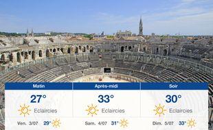 Météo Nîmes: Prévisions du jeudi 2 juillet 2020