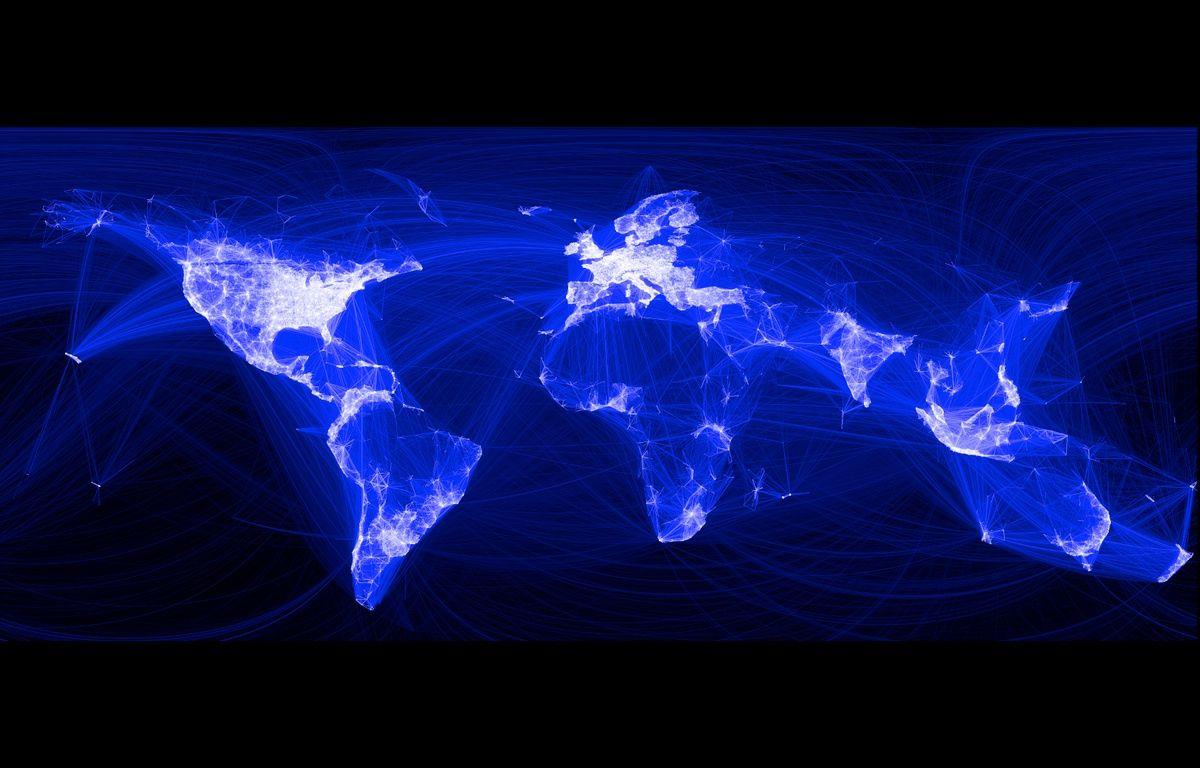 Une carte du monde des connexions Facebook – FACEBOOK