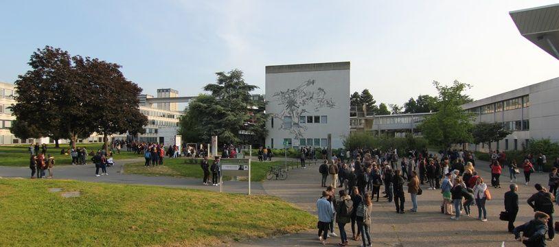 Le campus Villejean de l'université Rennes 2. Ici le 17 mai 2018, lors de l'annulation des examens.