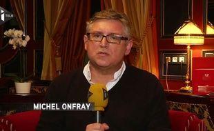 Le philosophe Michel Onfray sur iTélé le 21 novembre 2015.