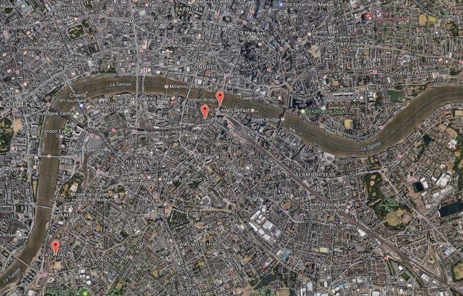 Des «incidents» ont été signalés sur le London Bridge, à Borough Market et à Vauxhall, à Londres, le 4 juin 2017.