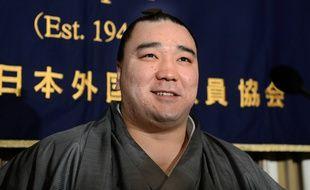 Harumafuji au club de la presse étrangère à Tokyo, le 18 février 2013.