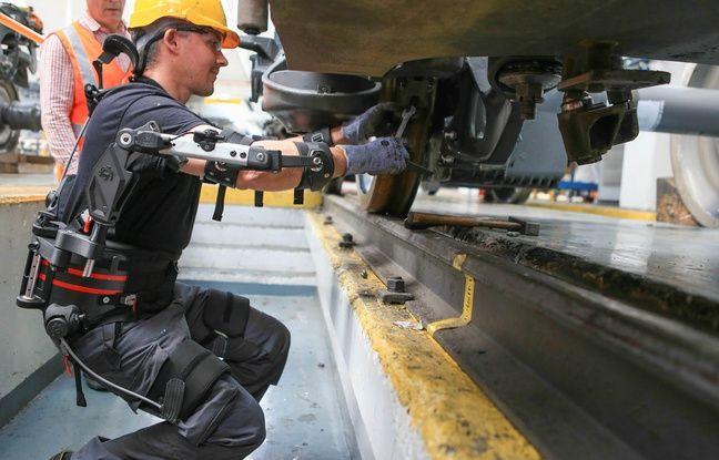 Strasbourg: Un exosquelette donne un coup de main aux agents de la SNCF