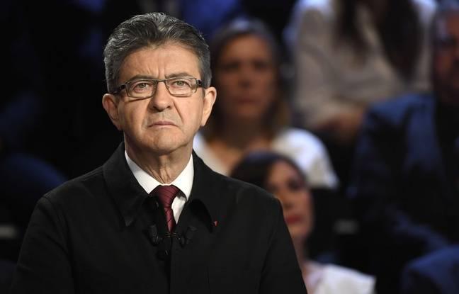 Jean-Luc Mélenchon lors du deuxième débat de la campagne présidentielle, le 4 avril 2017.