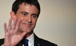 Manuel Valls le 29 janvier 2017, après la victoire de Benoît Hamon à la primaire de la gauche