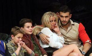 Sean Preston, Jayden James, et leur mère Britney Spears au côté de son compagnon Sam Asghari