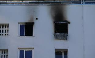 Le feu s'est déclenché dans cet immeuble de la rue Portmann à Bordeaux