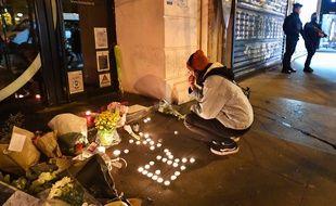 Commémoration du 5e anniversaire des attentats de novembre 2015, en 2020.