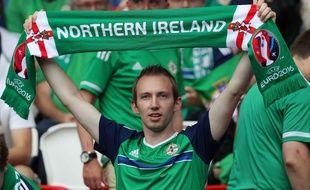 Un supporter nord-irlandais au Parc des Princes, lors du match de sa sélection face à l'Allemagne à l'Euro 2016.