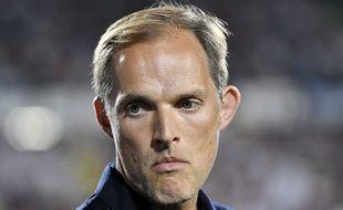 Thomas Tuchel, le coach du PSG, lors d'un match à Metz le 30 août 2019.
