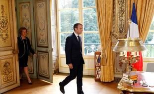 Emmanuel Macron et Muriel Pénicaud à l'Elysée, le 22 septembre 2017.