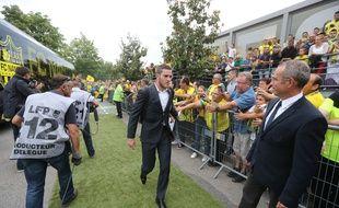 Jordan Veretout arrive au stade de la Beaujoire.