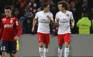 Edinson Cavani, David Luiz et le PSG ont été tenus en échec à  Lille