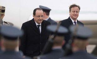 François Hollande et David Cameron lors du sommet franco-anglais le 31janvier 2014.