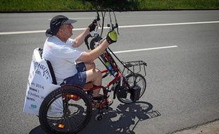 Guy Patin va relier Avion (62) à Berlin en fauteuil roulant en hommage à son aïeul Albert Leriche.