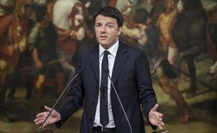 Le chef du gouvernement italien Matteo Renzi