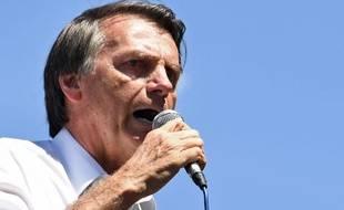Jair Bolsonaro, candidat d'extrême-droite à l'élection présidentielle brésilienne.