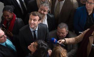 Emmanuel Macron à Bobigny le 11 janvier 2016.