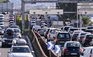 Embouteillage à Lyon.