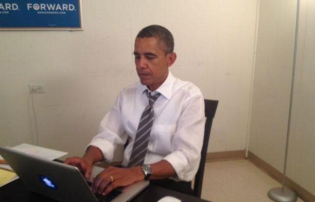 Barack Obama lors de son chat sur le forum Reddit, le 29 août 2012