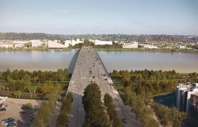 Bordeaux: Le chantier du pont Simone-Veil à nouveau à l'arrêt