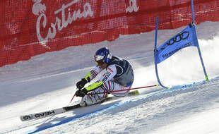 Alexis Pinturault a glané sa deuxième médaille des Mondiaux à Cortina, le 15 février 2021.