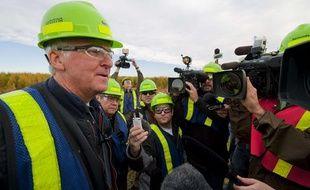 Le réalisateur James Cameron lors d'une conférence de presse le 28 septembre 2010 à Edmonton, au Canada.