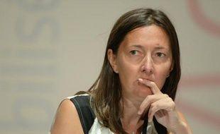 La députée PS Karine Berger, le 28 août 2013 à La Rochelle